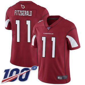 Cardinals Larry Fitzgerald 100th Season Jersey 1